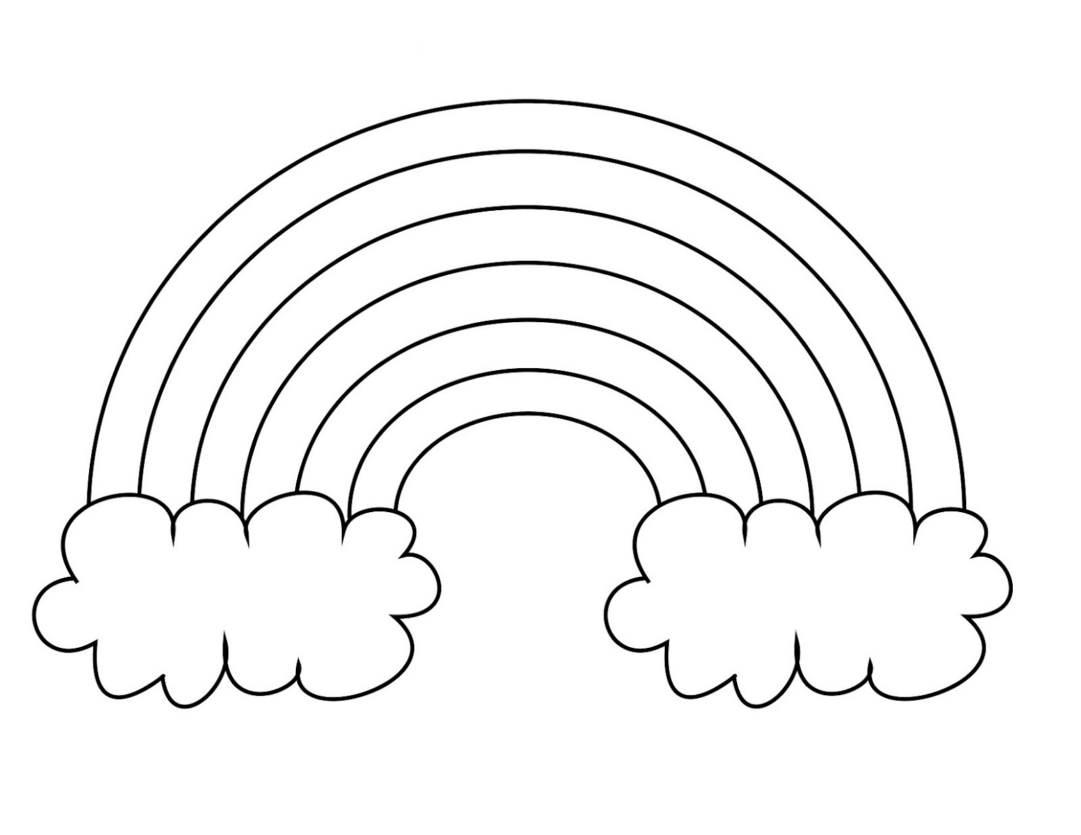 Rainbow Coloring Page For Preschool
