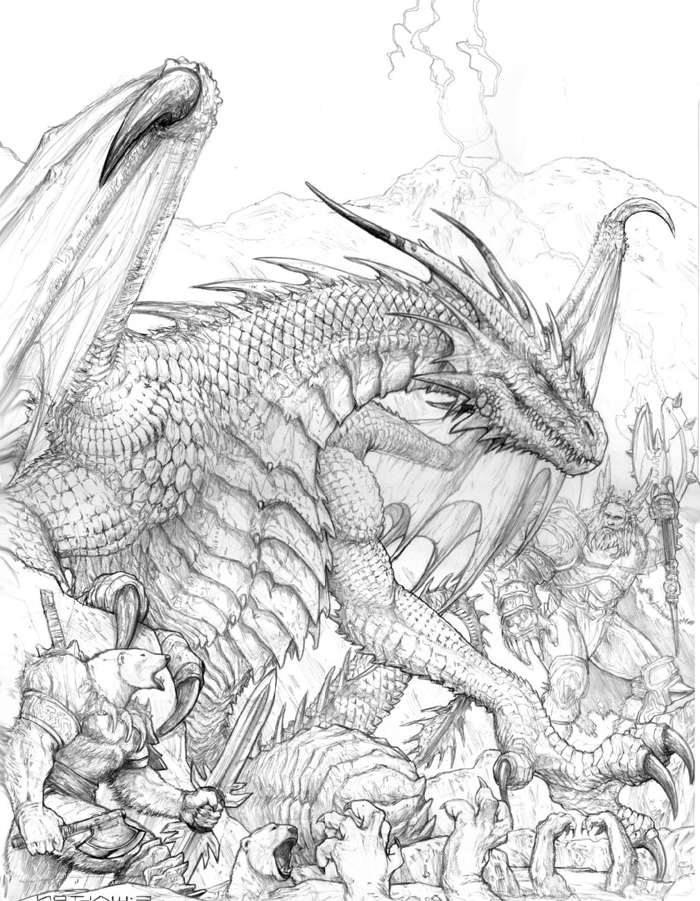 Realistic Dragon Coloring Pages To Print