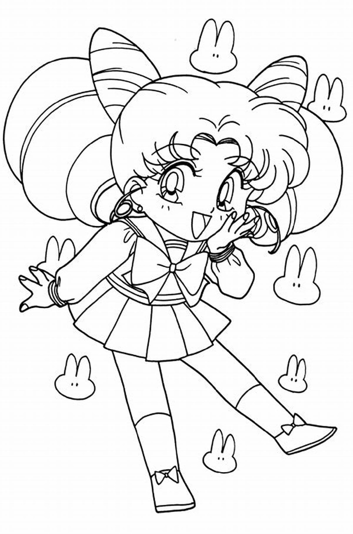 Sailor Moon Coloring Pages Chibi