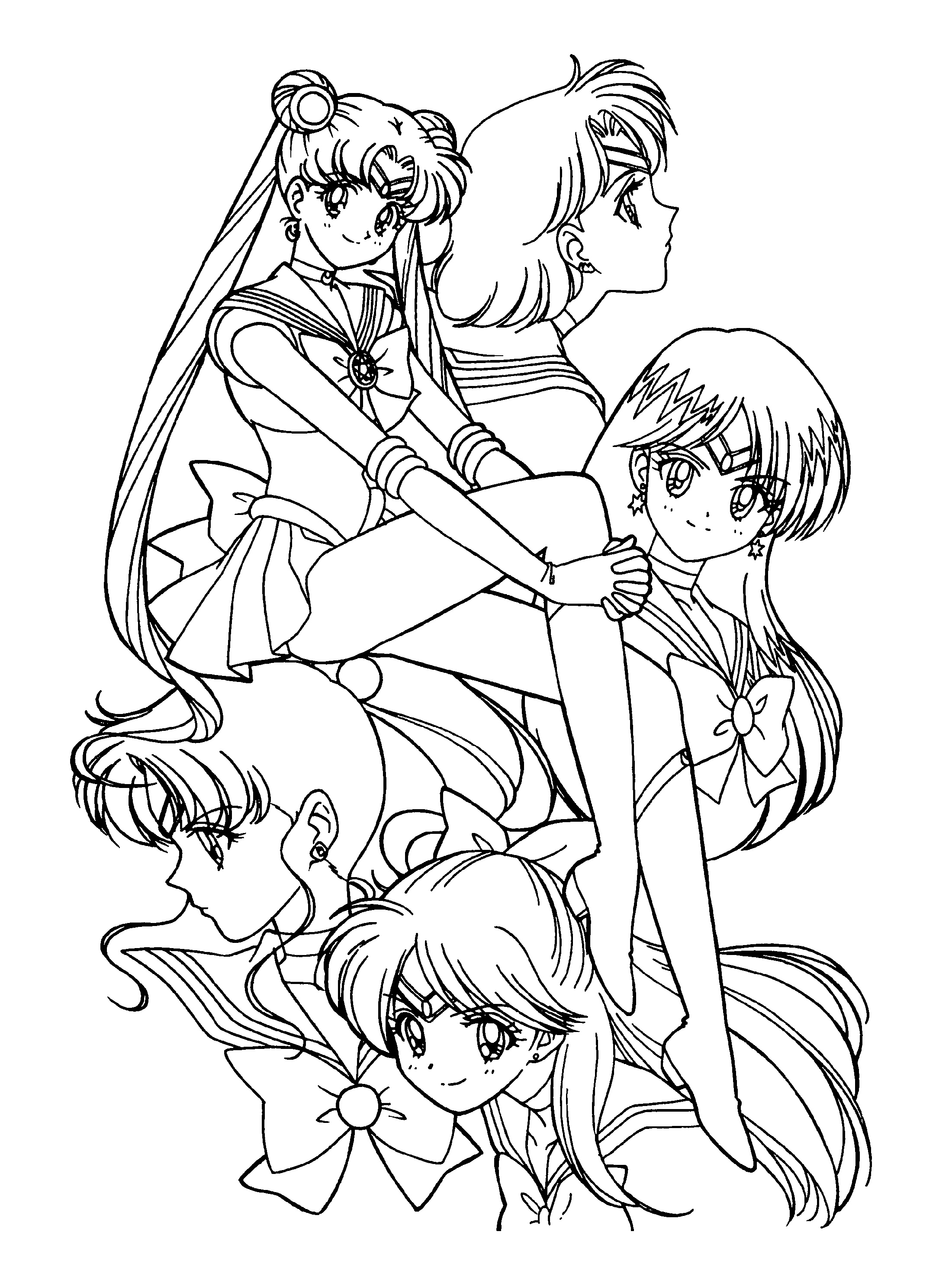 Sailor Moon Coloring Pages Free