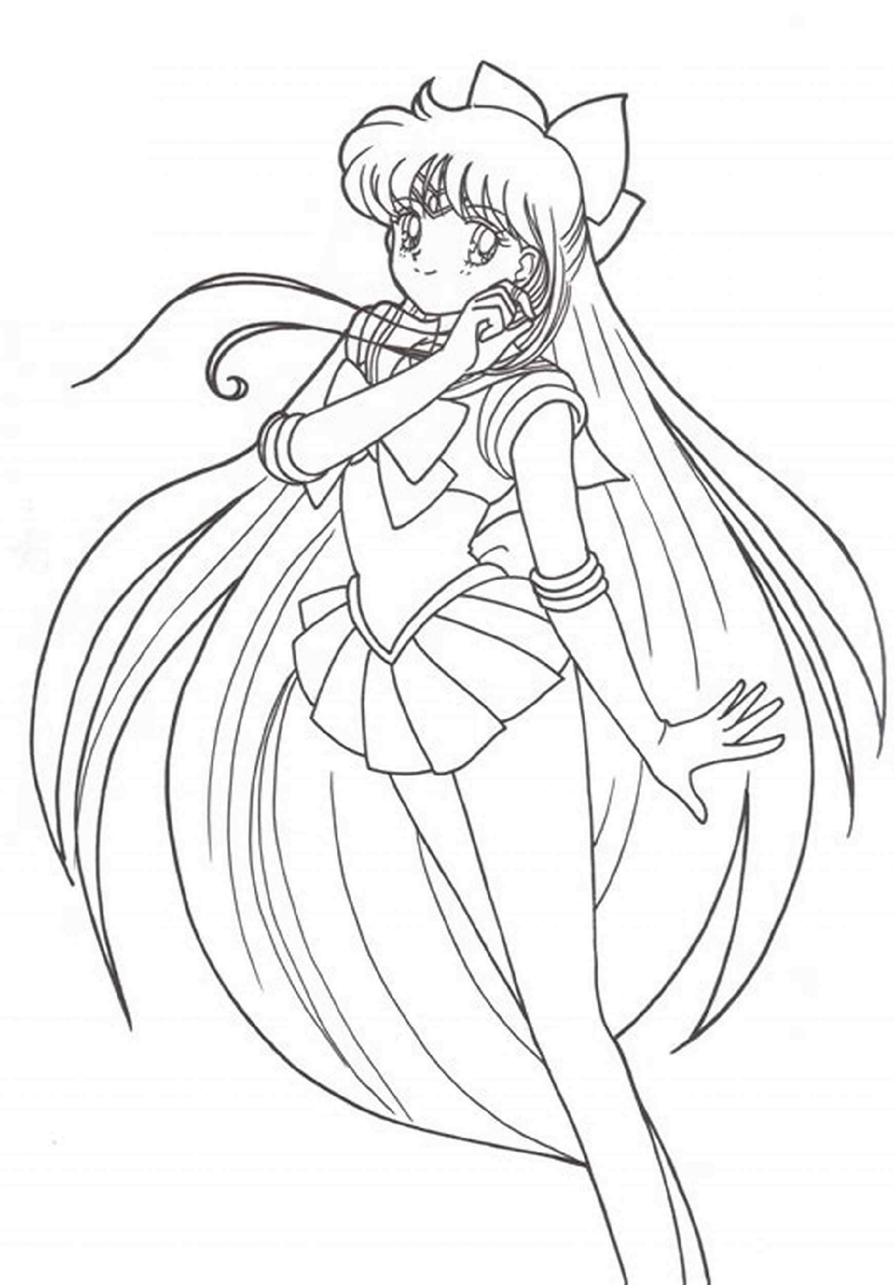 Sailor Moon Coloring Pages Minako