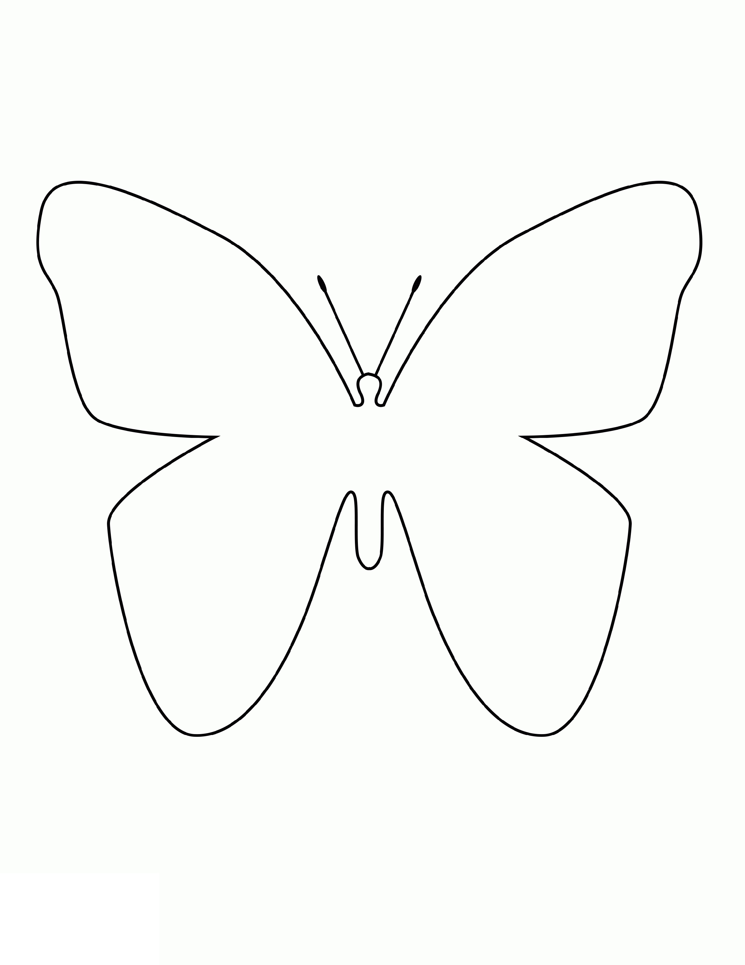 Simple Coloring Pages Butterfly