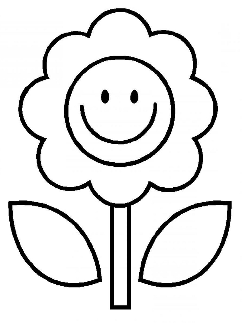 Simple Coloring Pages Flower
