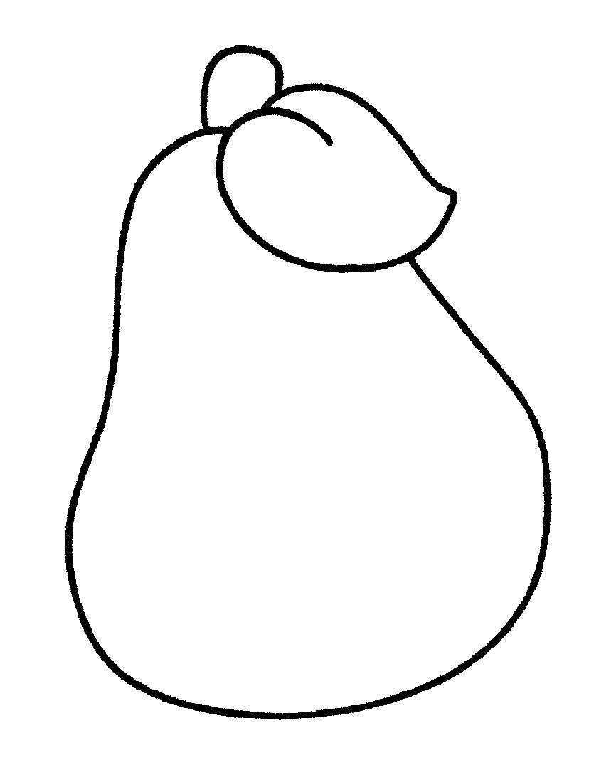 Simple Coloring Pages Fruit