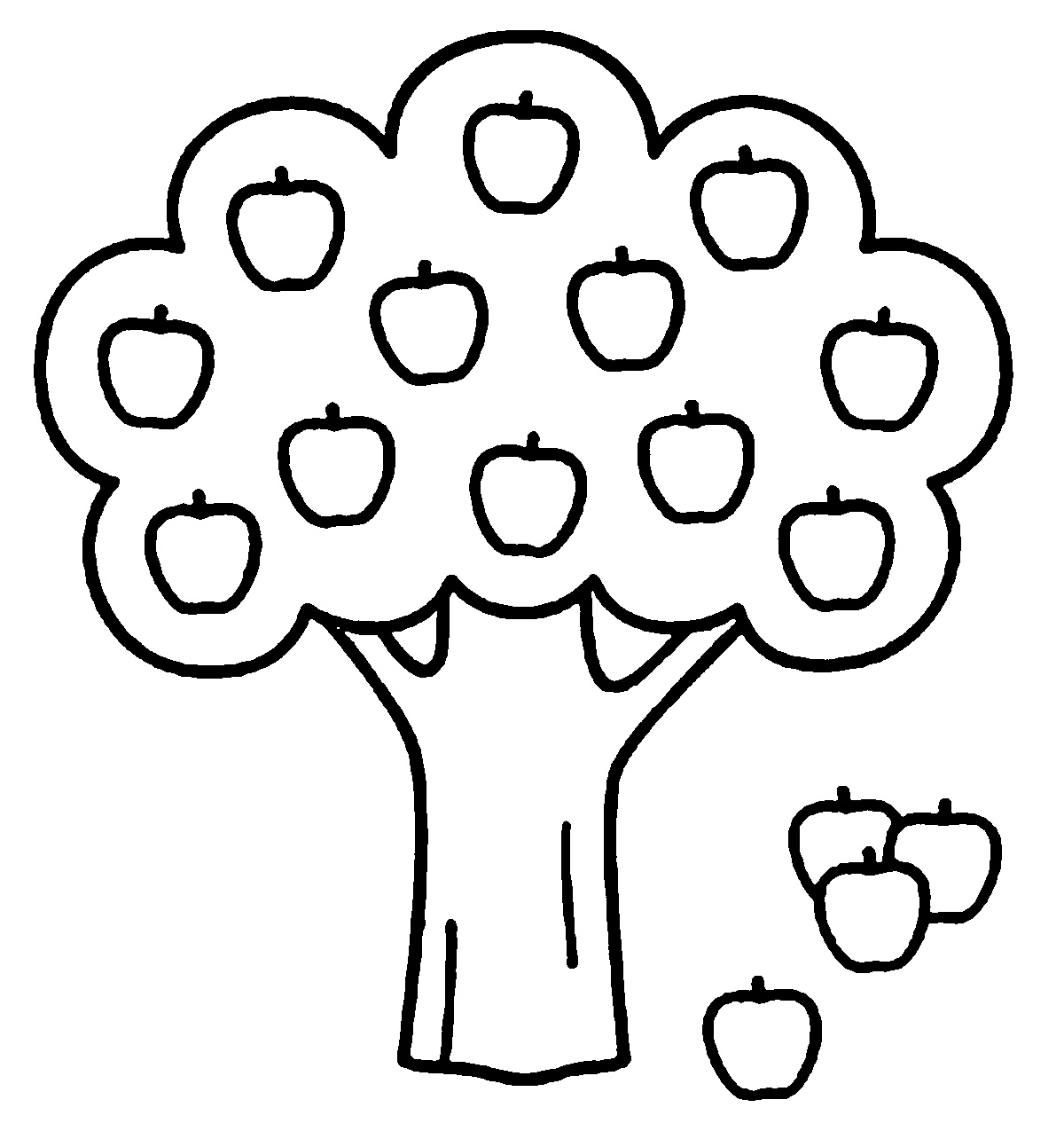 Simple Coloring Pages Tree