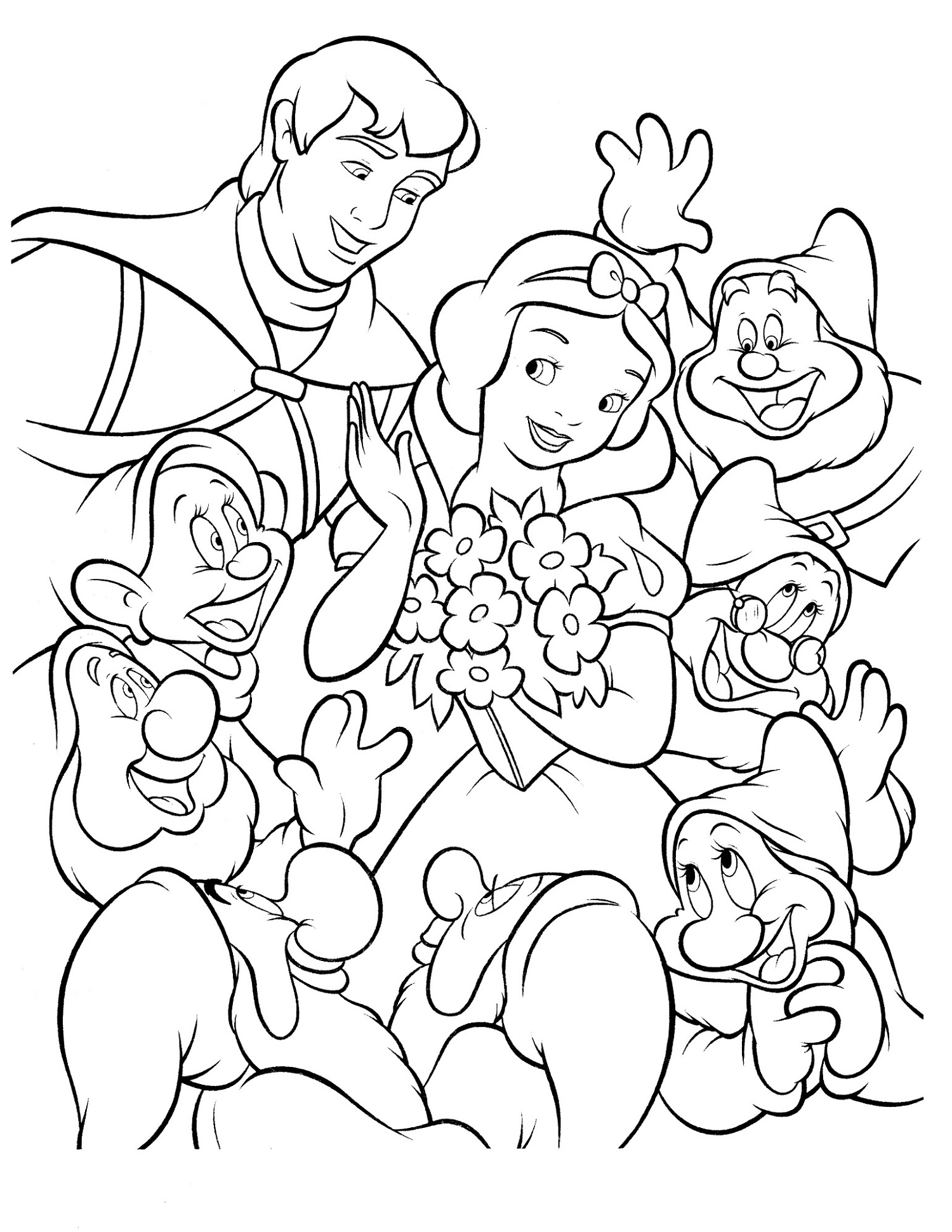 Snow White Coloring Pages Disney