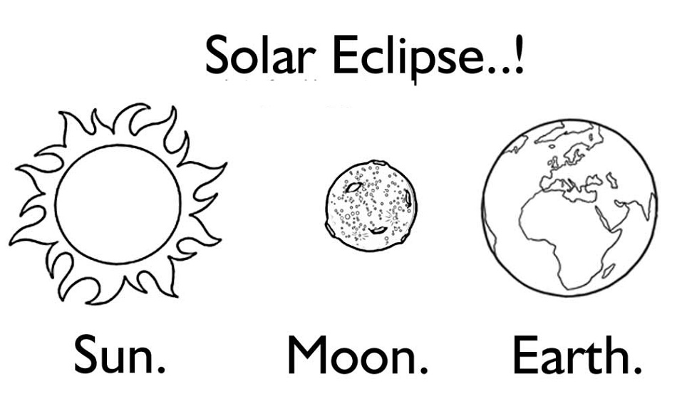 Solar Eclipse Coloring Pages