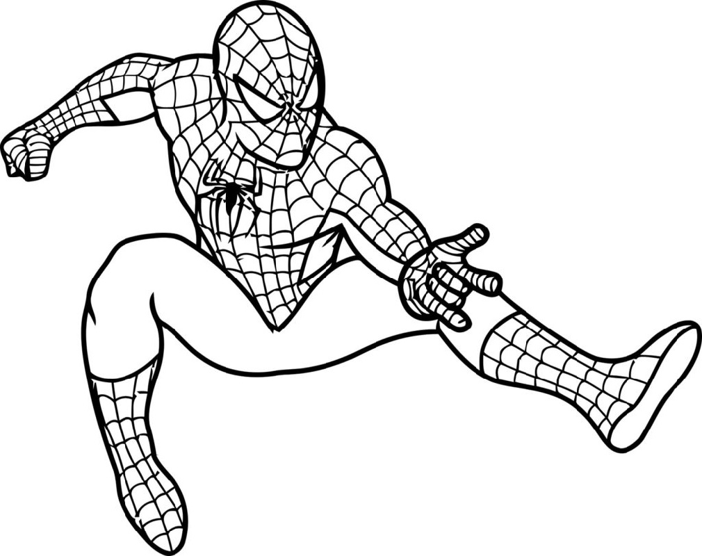 Spiderman Coloring Pages Pdf Free