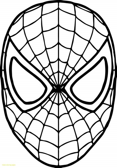 Spiderman Coloring Pages Pdf Mask