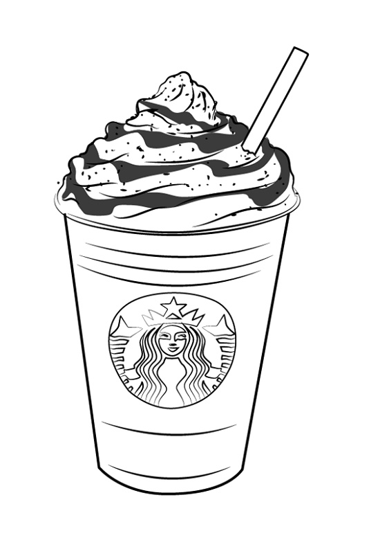 Starbucks Coloring Page Frappucino