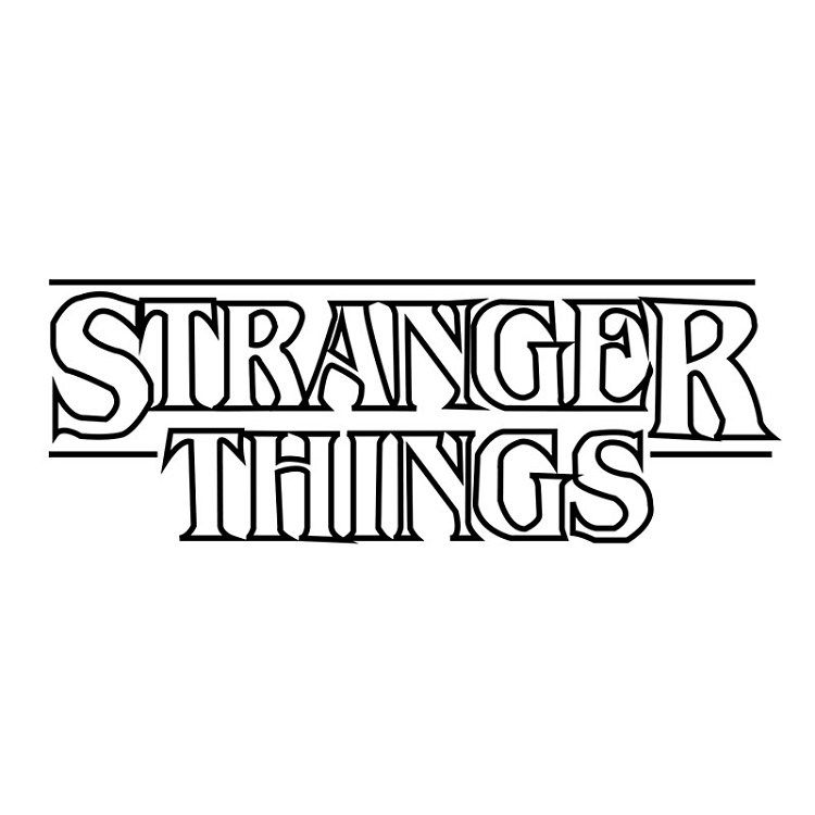 Stranger Things Coloring Pages Logo
