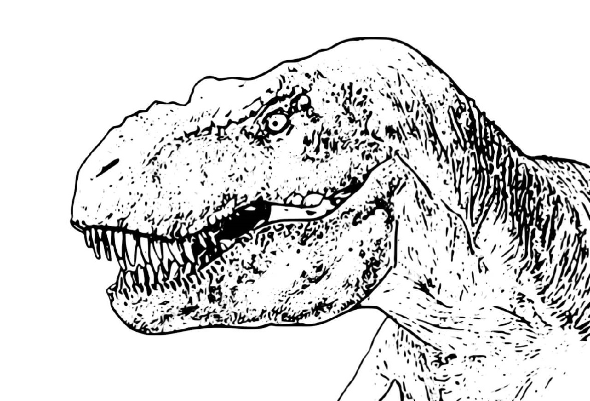 T Rex Coloring Page For Adults