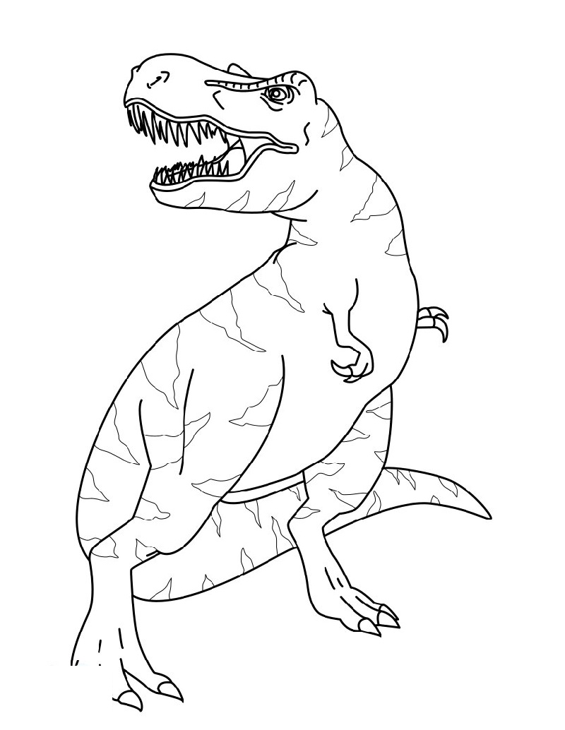 T Rex Coloring Page Free