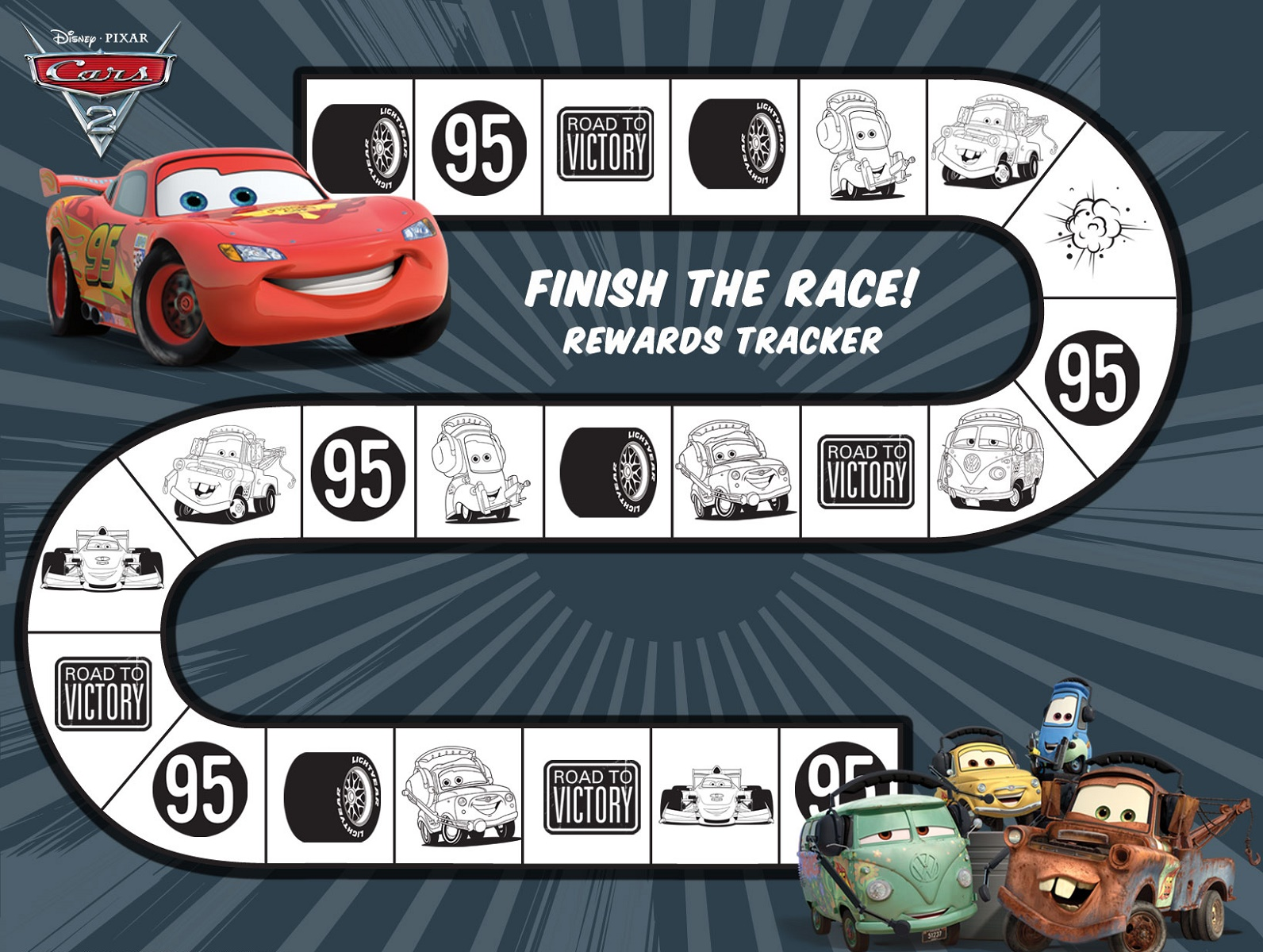 Toddler Reward Chart Cars
