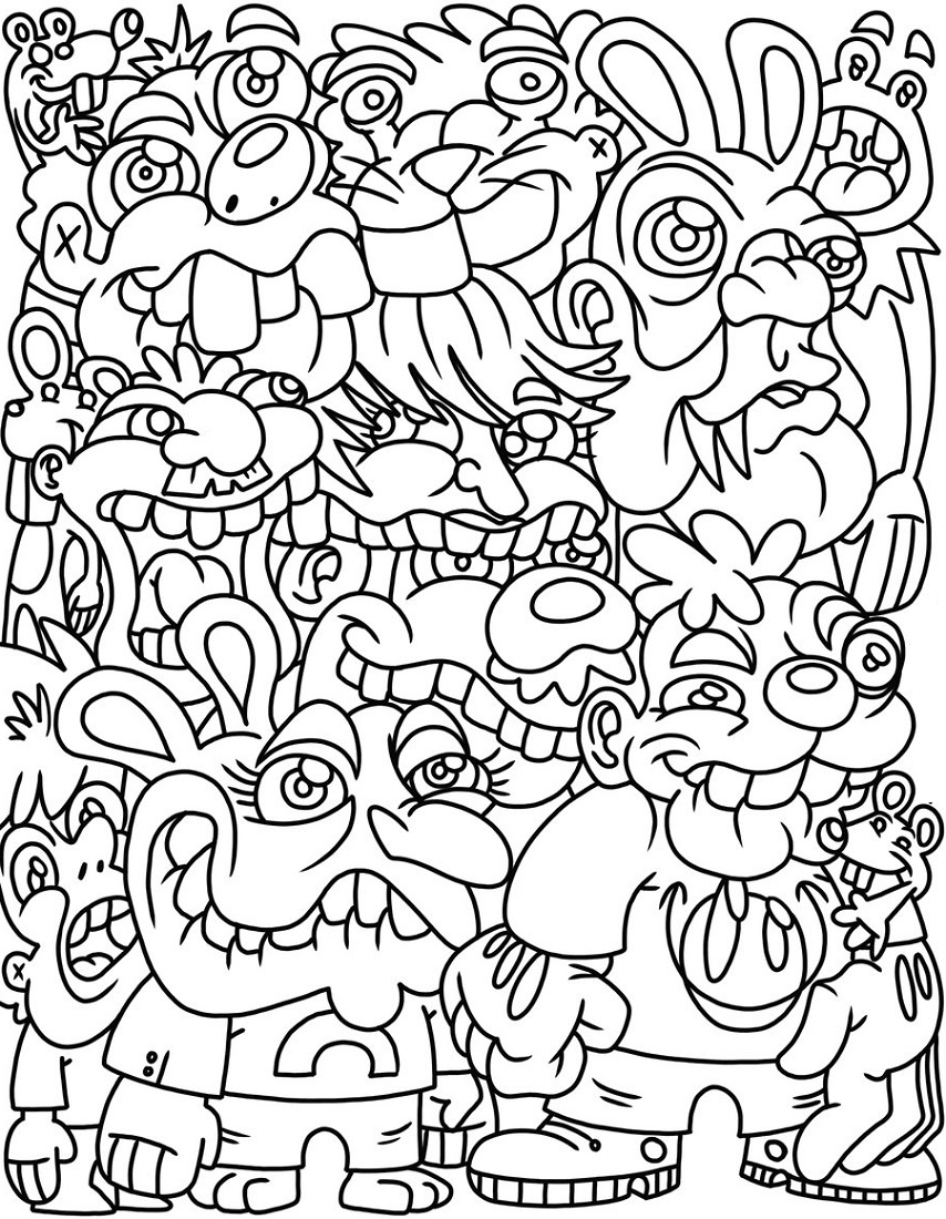Tumblr Coloring Pages Free