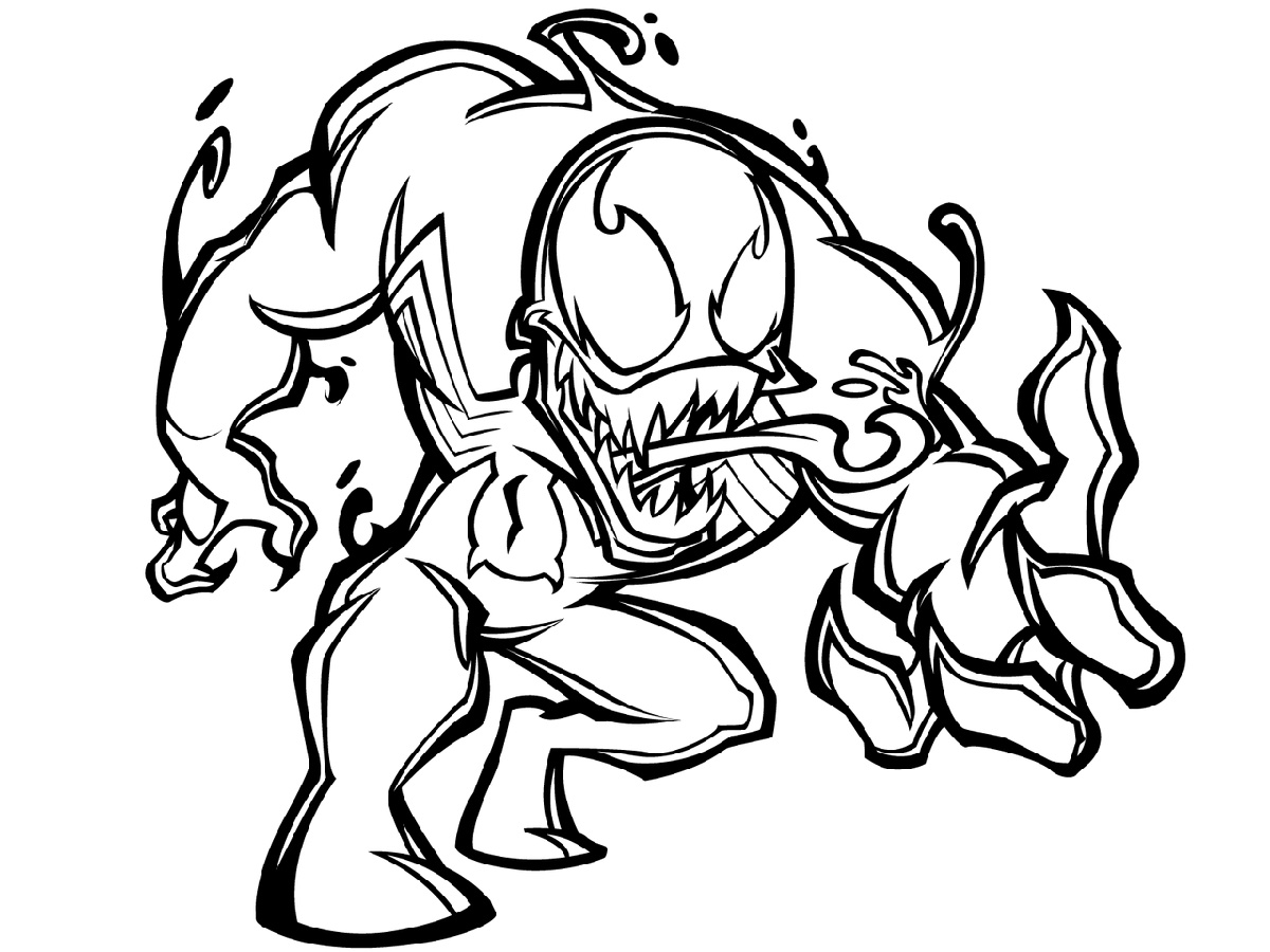 Venom Coloring Pages Chibi