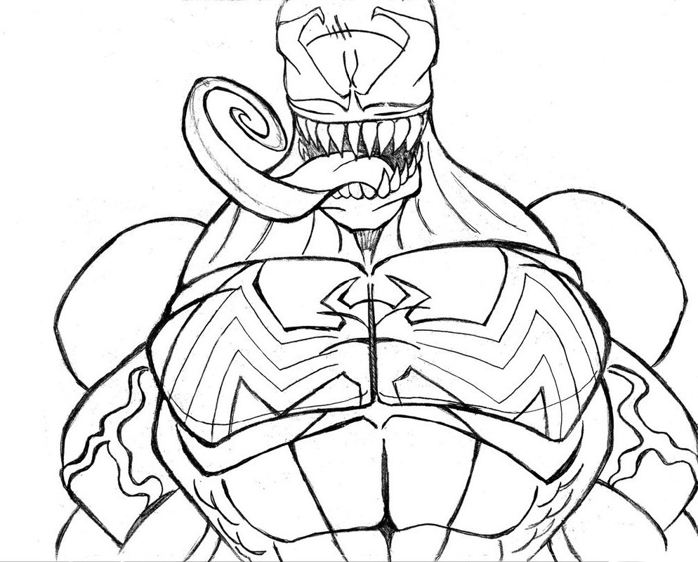 Venom Coloring Pages For Kids