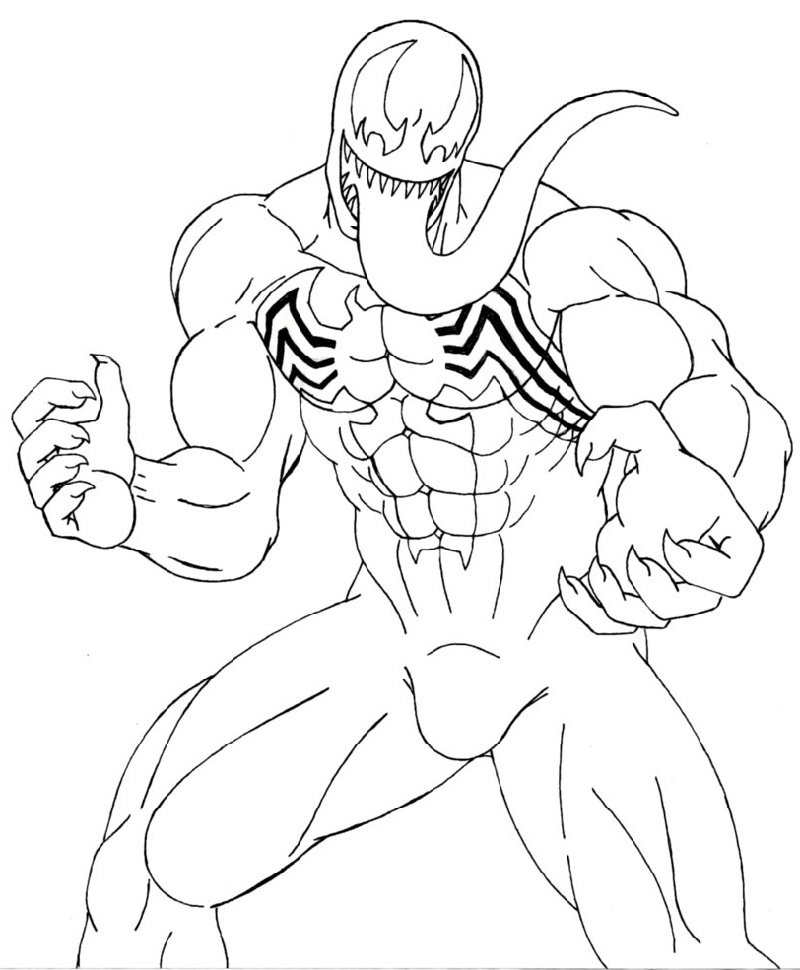 Venom Coloring Pages Printable