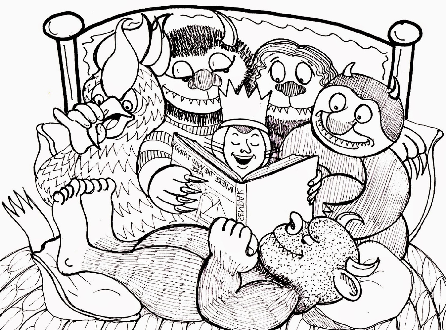 Where The Wild Things Are Coloring Pages Picture