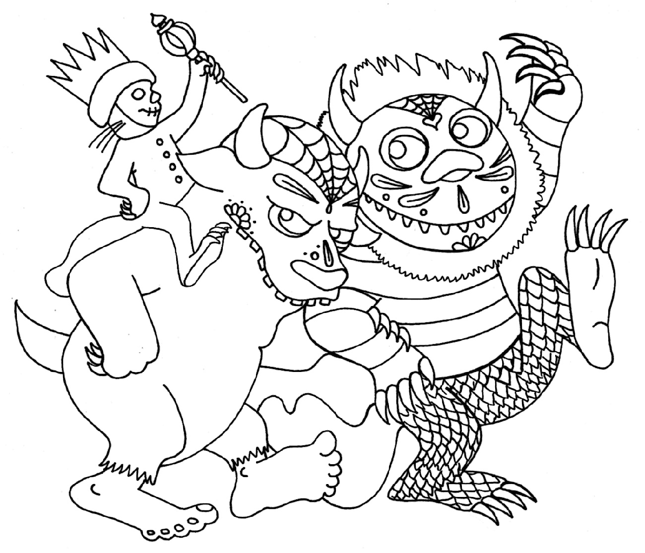 Where The Wild Things Are Coloring Pages Printable