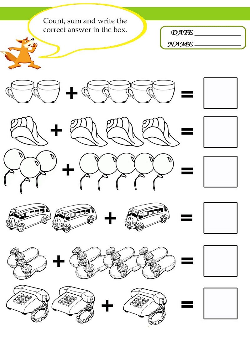 Worksheets For 6 Year Olds To Print Math