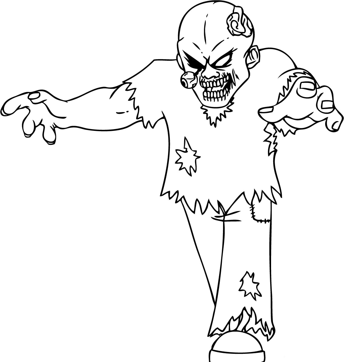 Zombie Coloring Pages Free