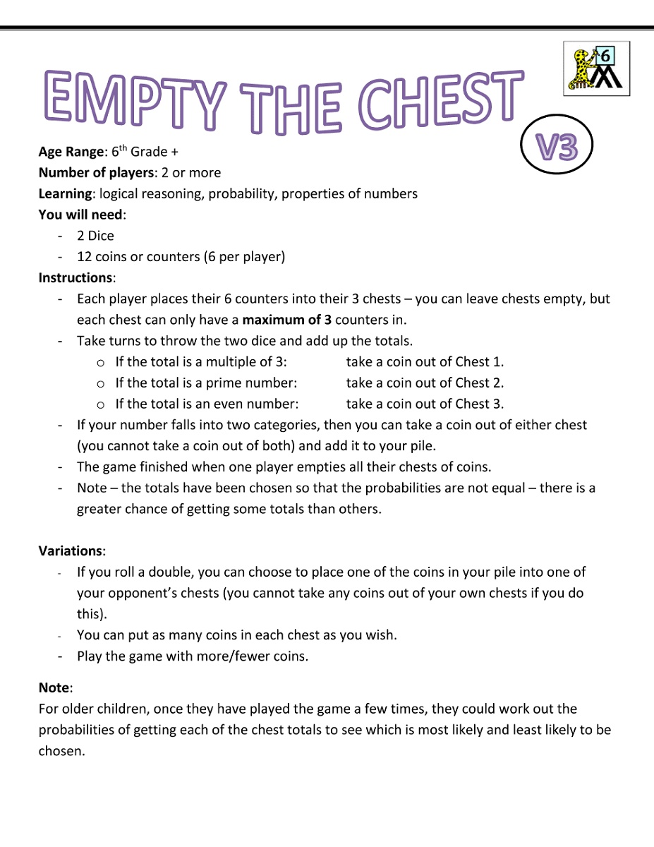 6th Grade Worksheets Games