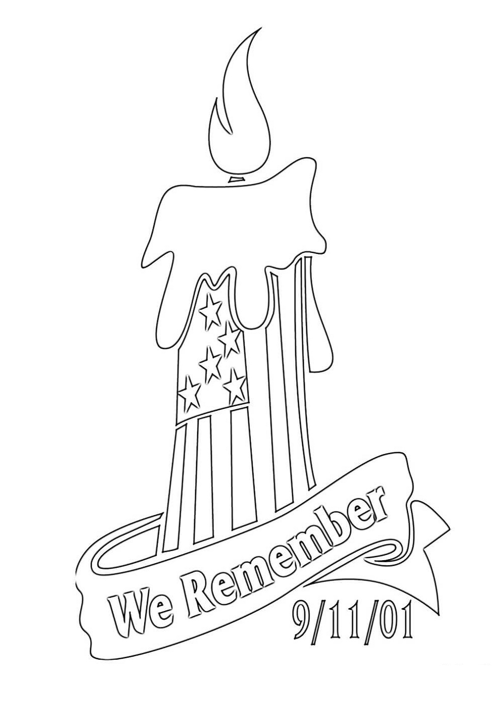 9 11 Coloring Pages We Remember