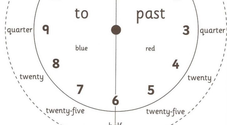 Activity Sheets For 6 Year Olds Clock
