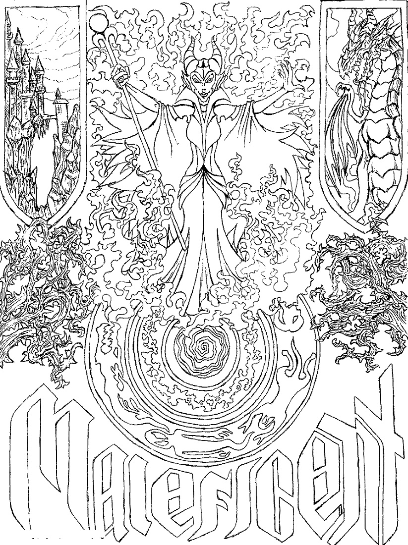 Adult Disney Coloring Pages Maleficent