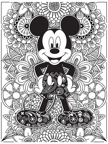 Adult Disney Coloring Pages Mickey Mouse