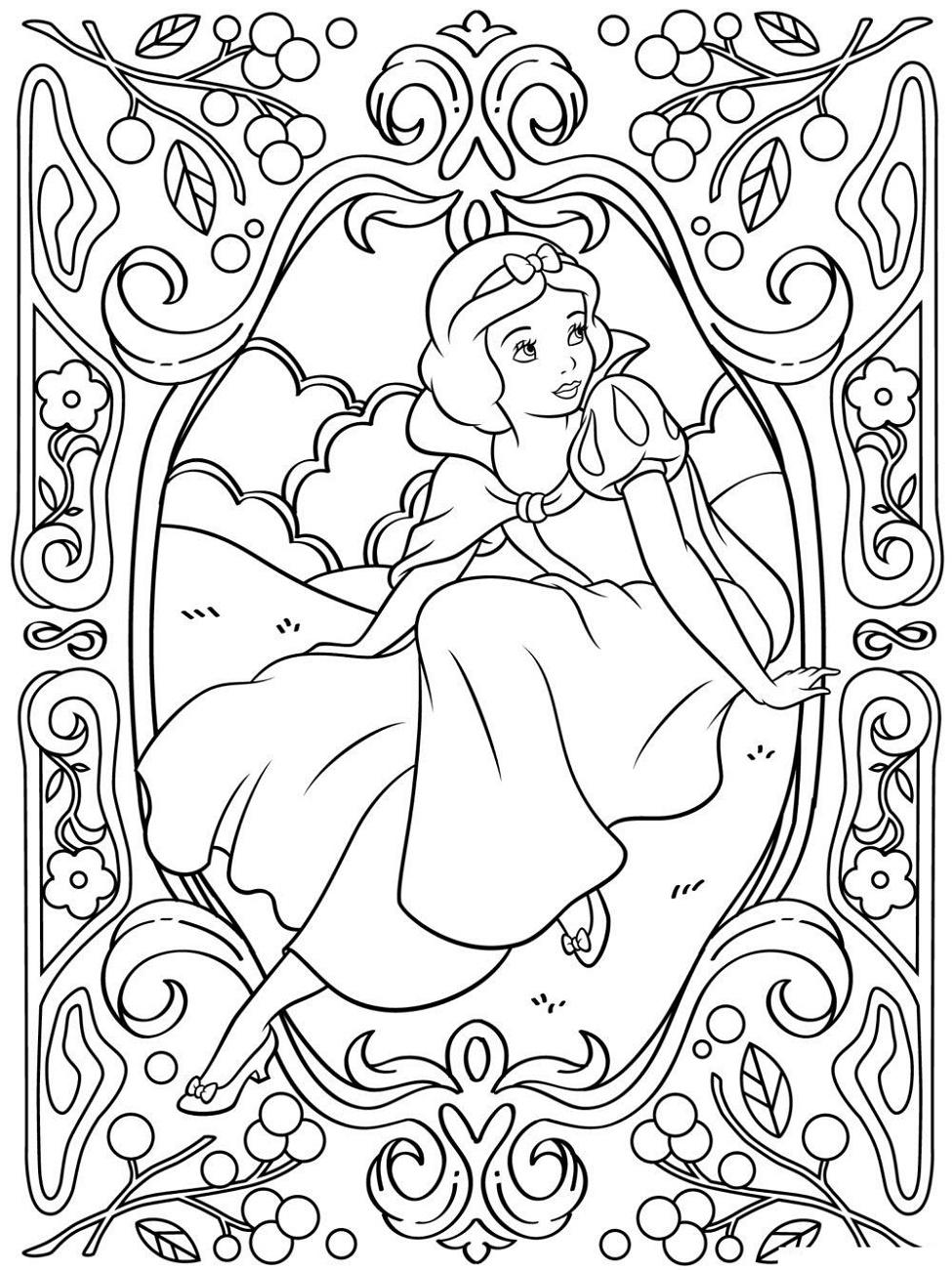 Adult Disney Coloring Pages Princess