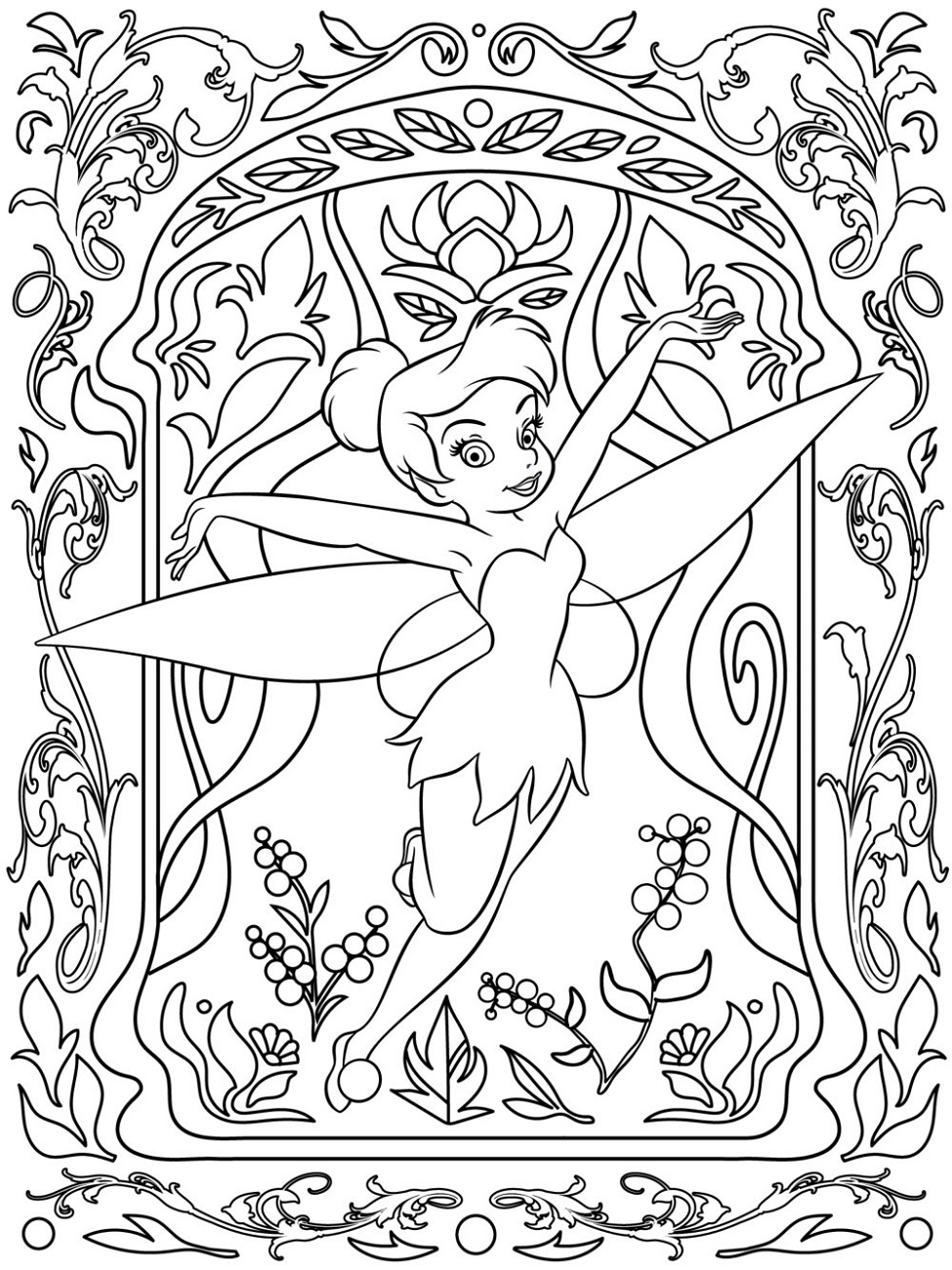 Adult Disney Coloring Pages Tinkerbell