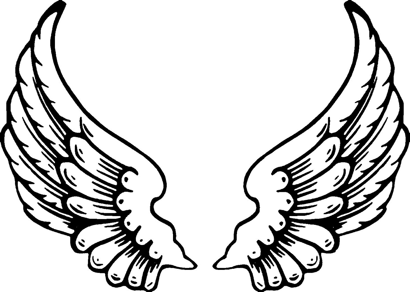 Angel Wings Coloring Pages For Kids