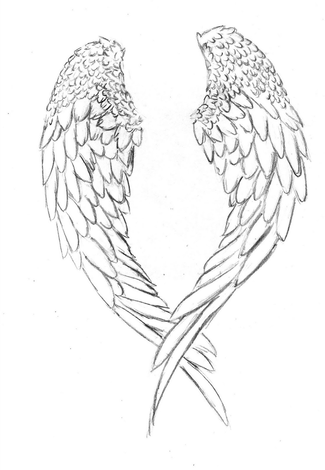 Angel Wings Coloring Pages Free