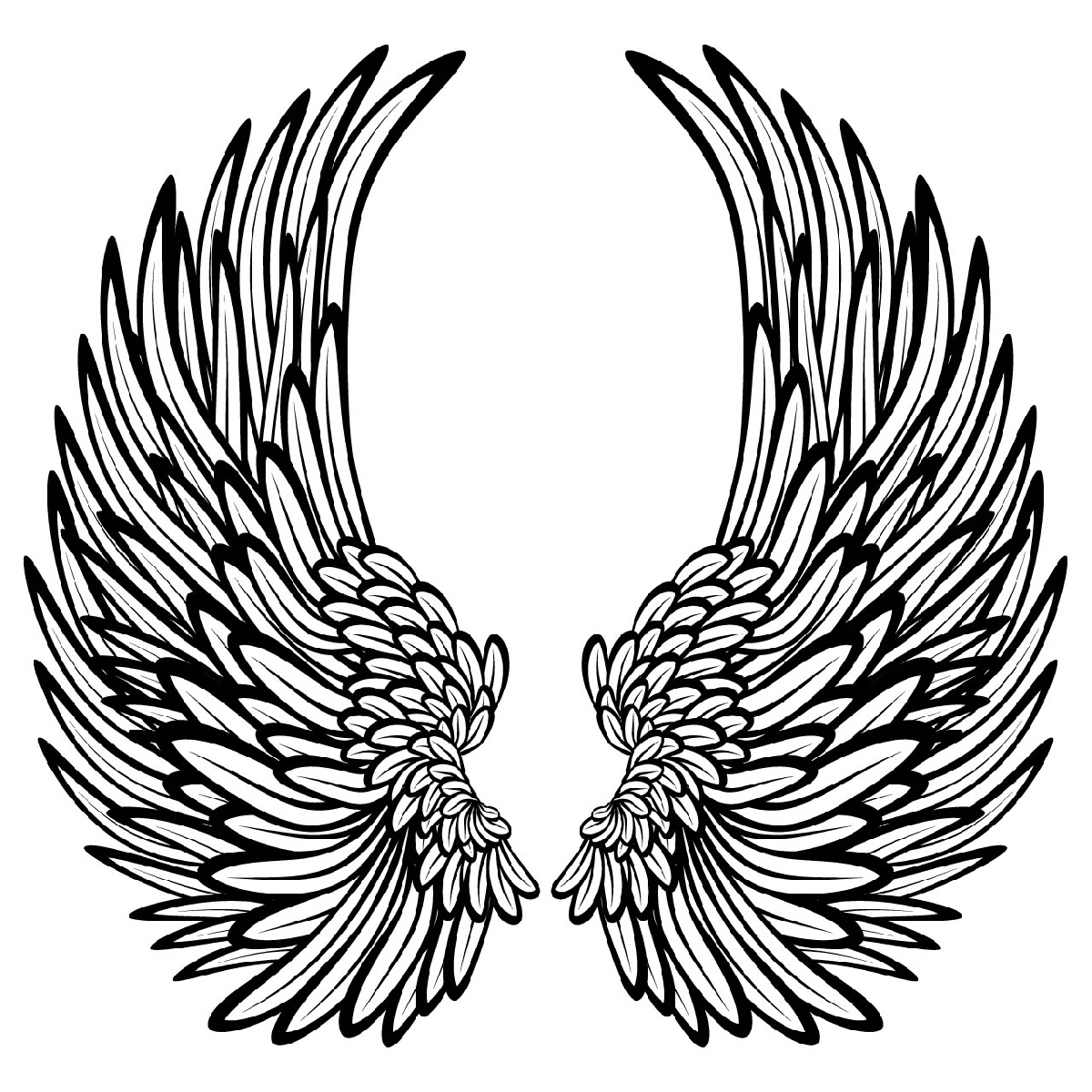 Angel Wings Coloring Pages Printable