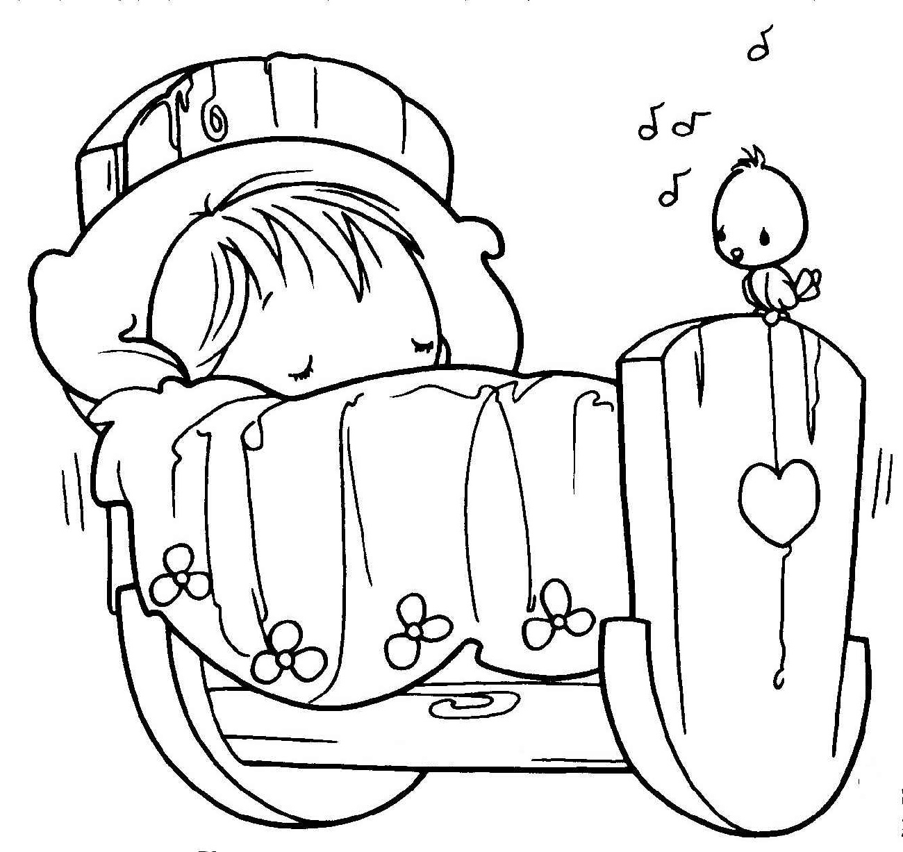 Baby Coloring Pages Little
