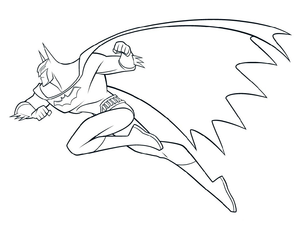 Batman Coloring Flying