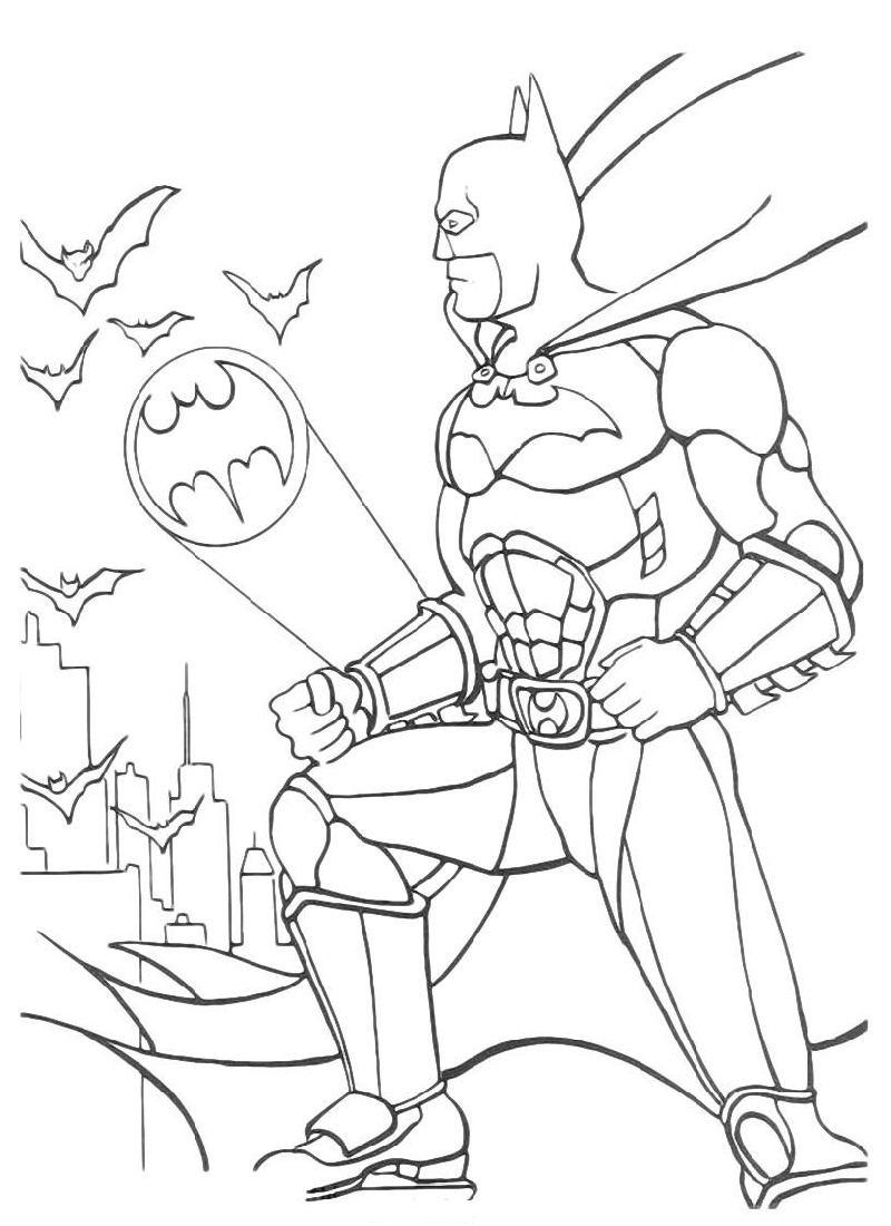 Batman Coloring Printable
