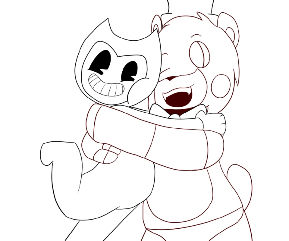 Bendy And The Ink Machine Coloring Pages Freddy And Bendy
