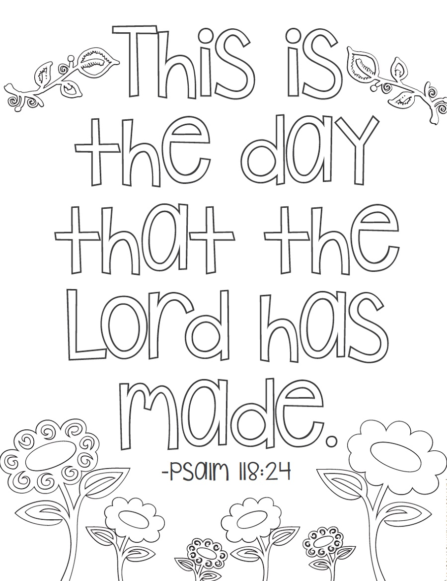 Bible Verse Coloring Pages To Print