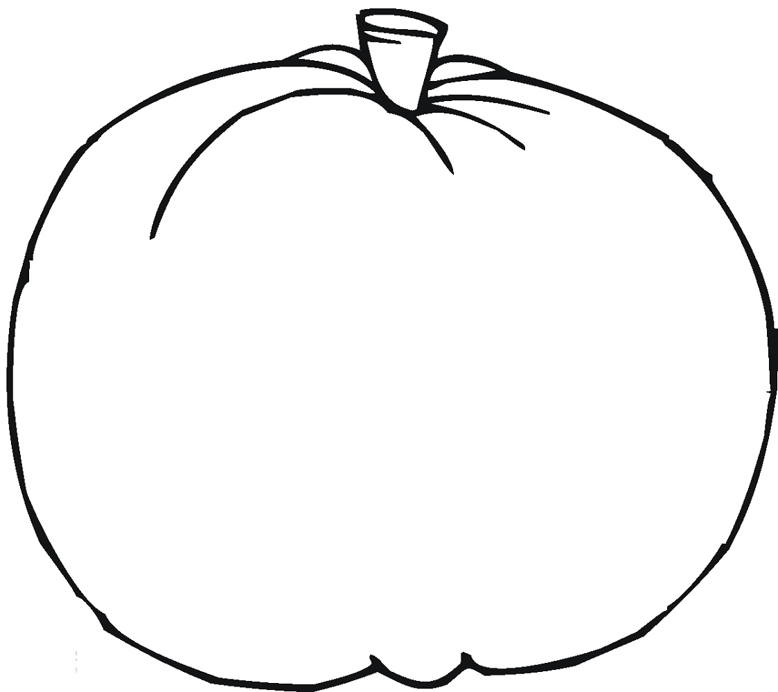 Blank Pumpkin Coloring Pages Free