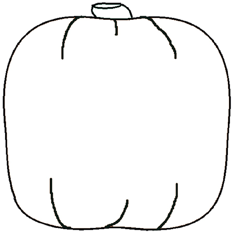 Blank Pumpkin Coloring Pages Outline