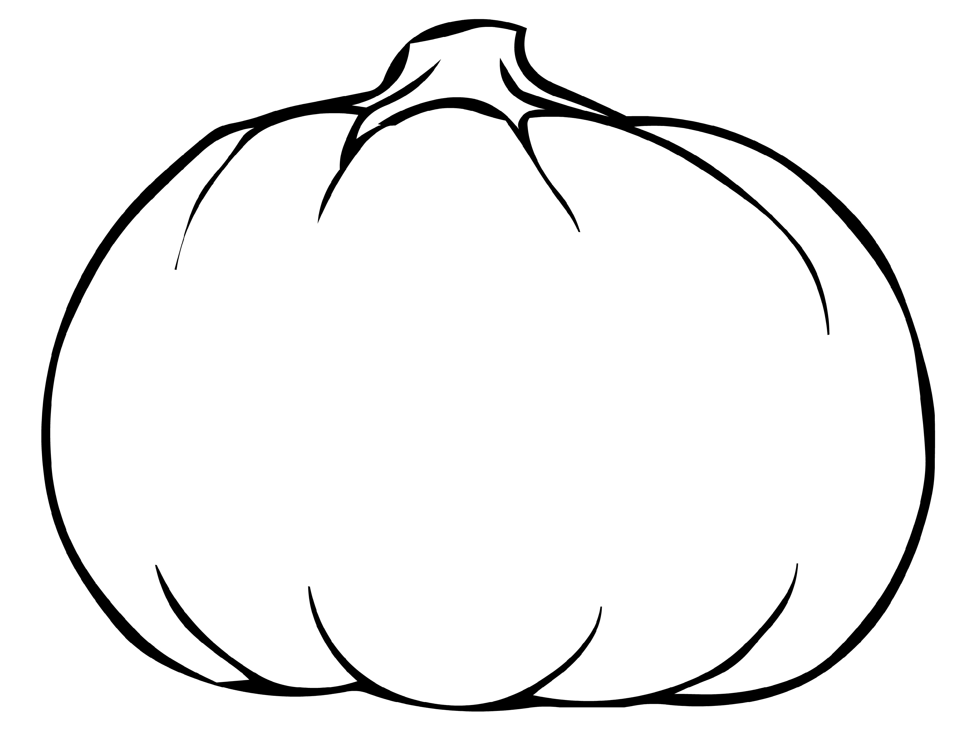 Blank Pumpkin Coloring Pages Printable