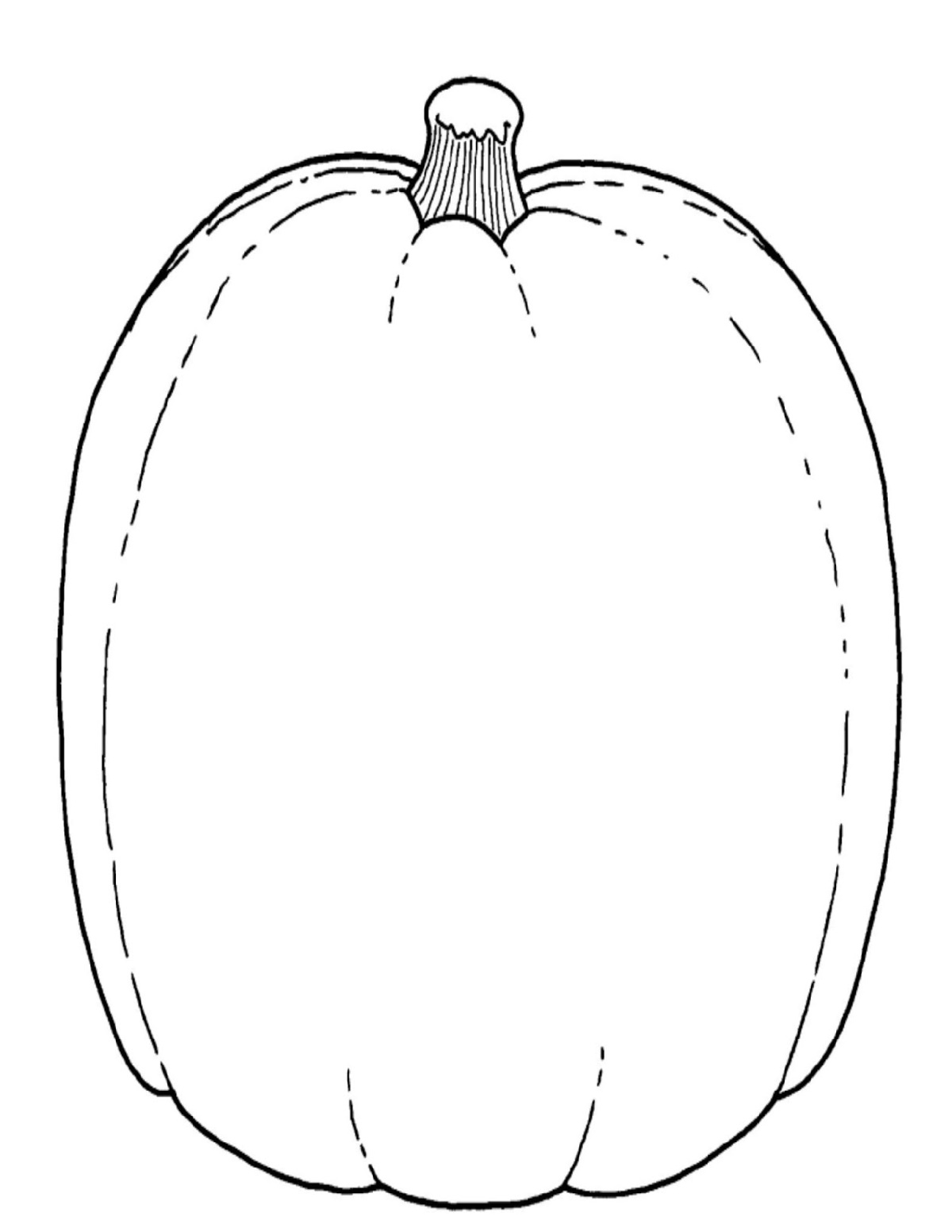 Blank Pumpkin Coloring Pages Tall
