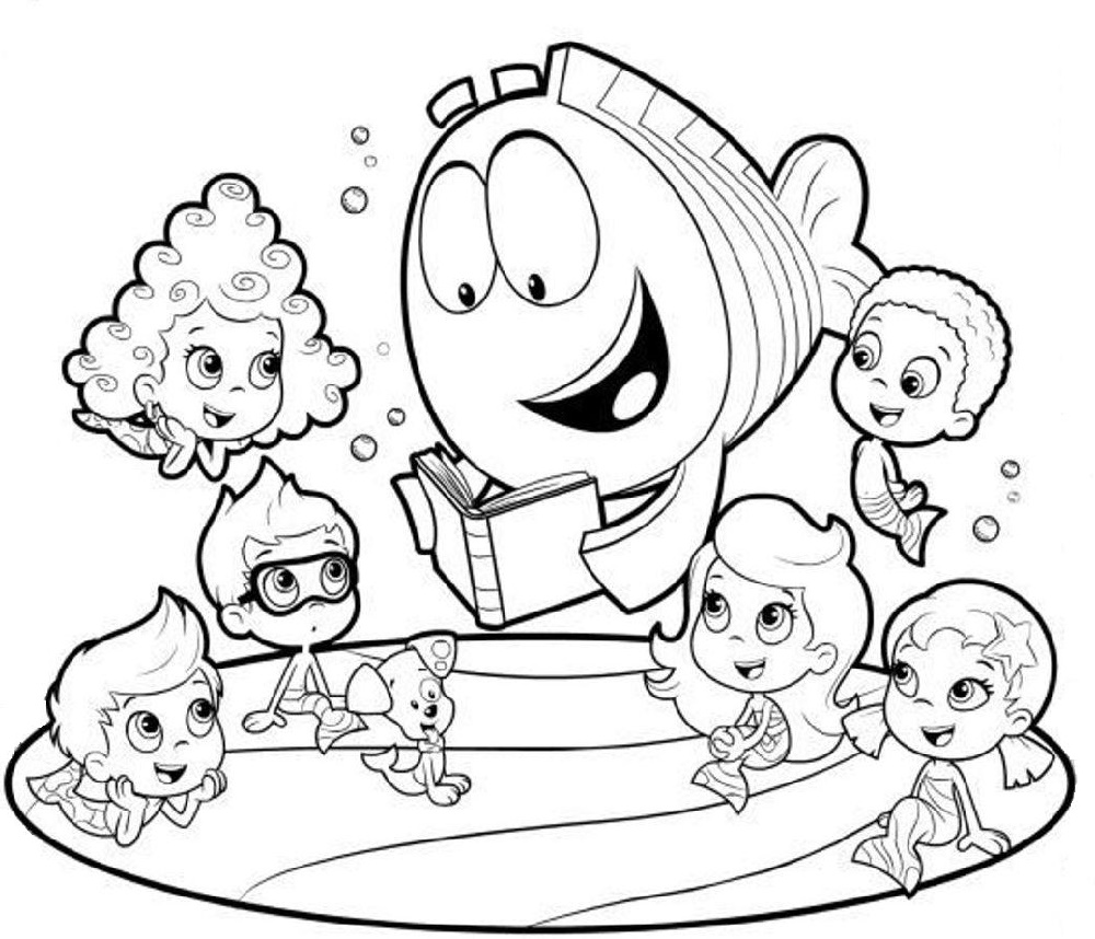 Bubble Guppies Coloring Pages Characters