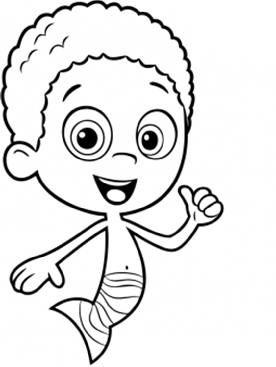 Bubble Guppies Coloring Pages Goby