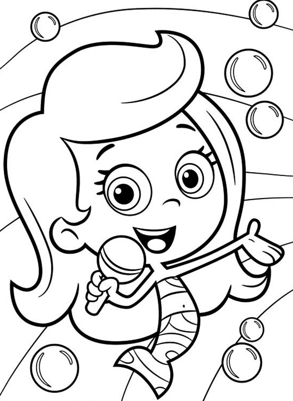 Bubble Guppies Coloring Pages Molly