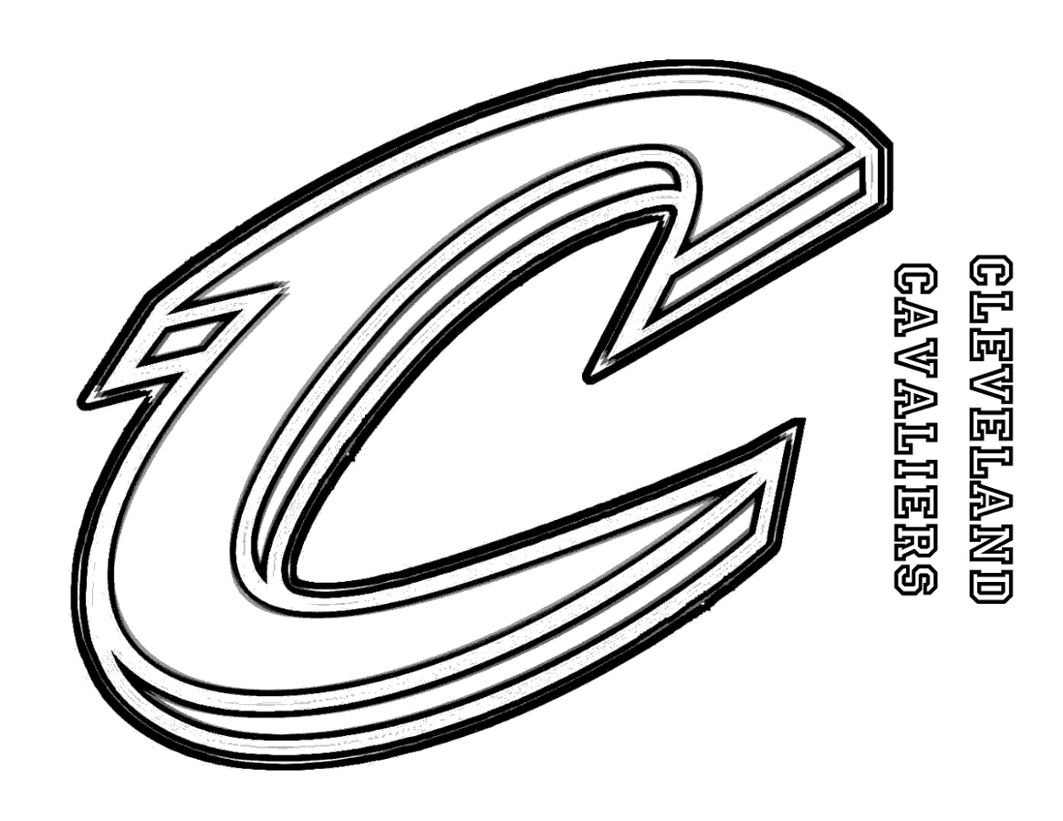 Cavs Coloring Pages Basketball