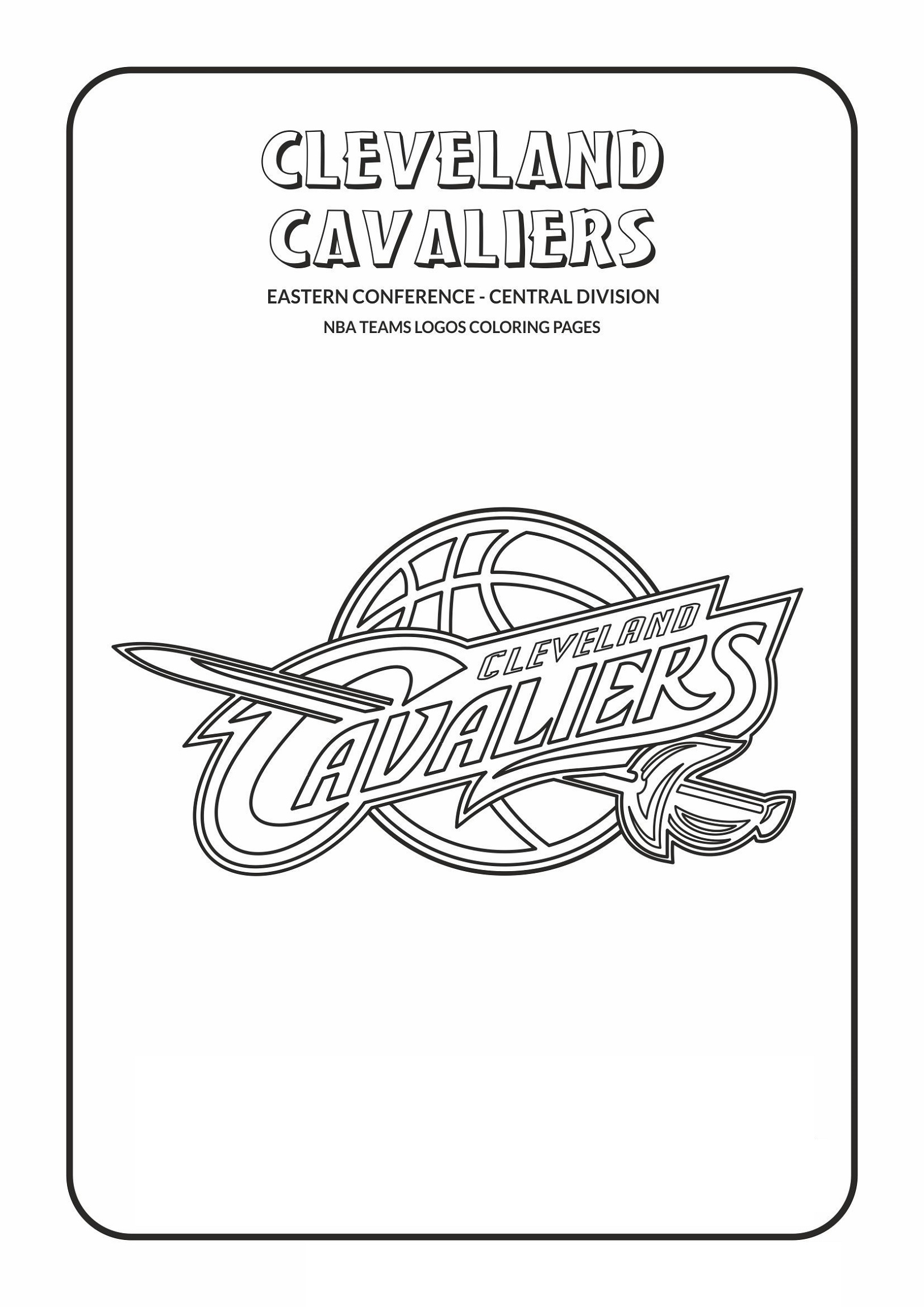 Cavs Coloring Pages NBA Teams